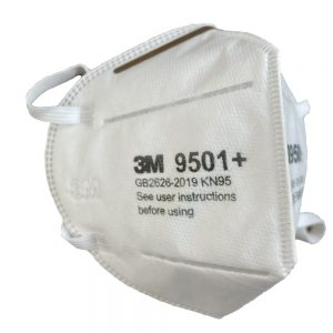 3M 9501+ Mask Left Side View
