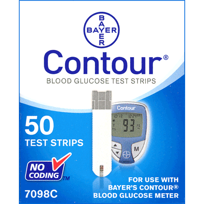 Bayer Contour Test Strip Box
